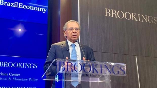 Ministro da Economia Paulo Guedes em Washington (Foto: DIVULGAÇÃO/EMBAIXADA DO BRASIL EM WASHINGTON)