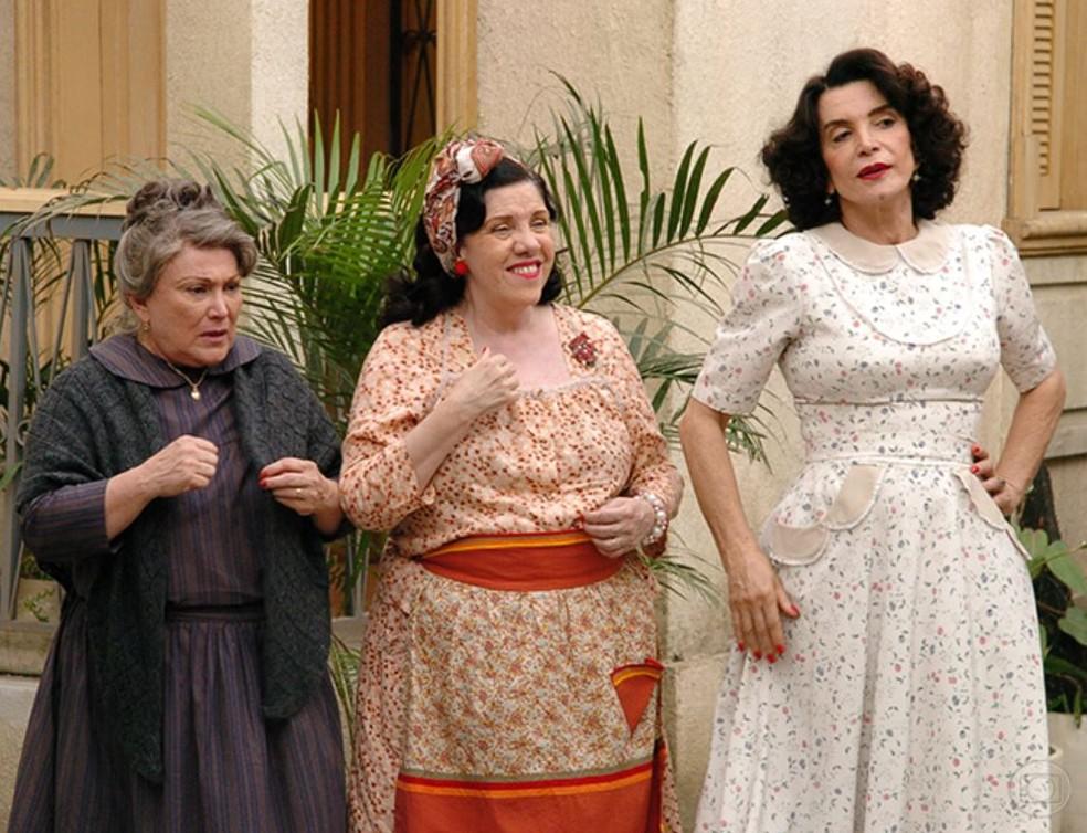 Nicete Bruno, Neusa Maria Faro e Lady Francisco em 'Alma Gêmea' — Foto: Márcio de Souza/TV Globo