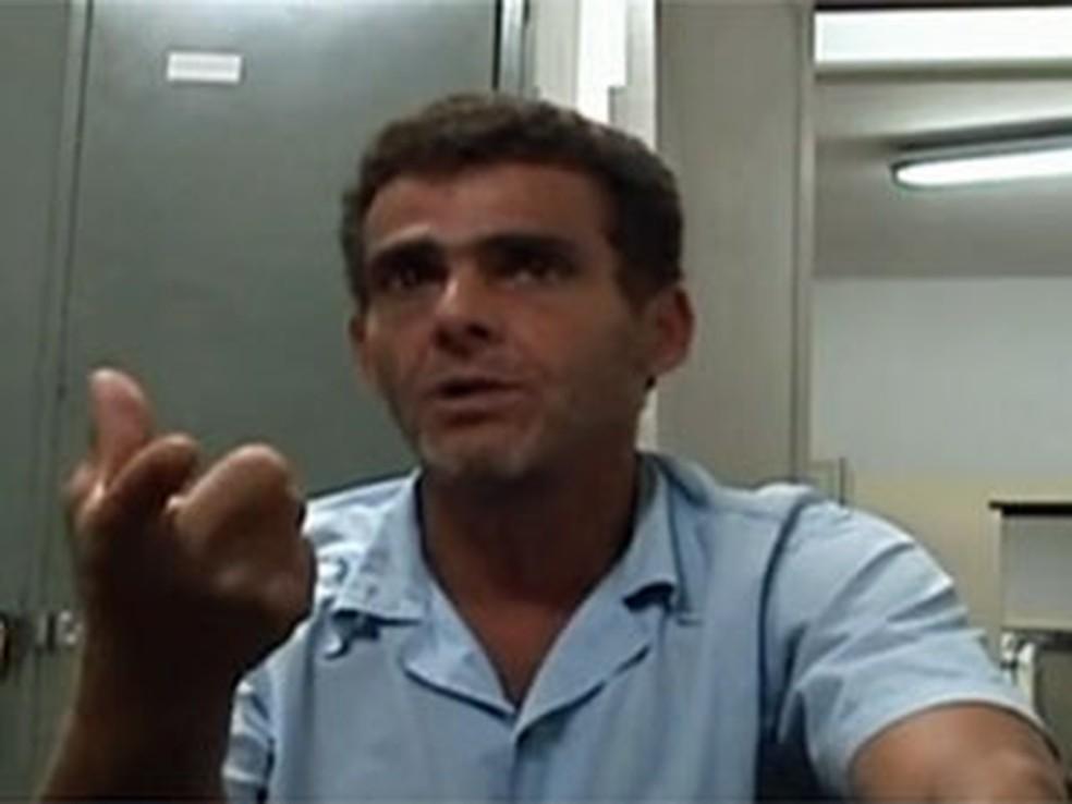 Kairon Alves em imagem do vídeo em que confessa o crime — Foto: Reprodução/TV Globo