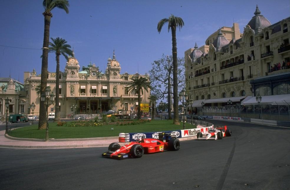 Prost perseguiu Berger por mais da metade do GP de Mônaco de 1988 (Foto: Getty Images)