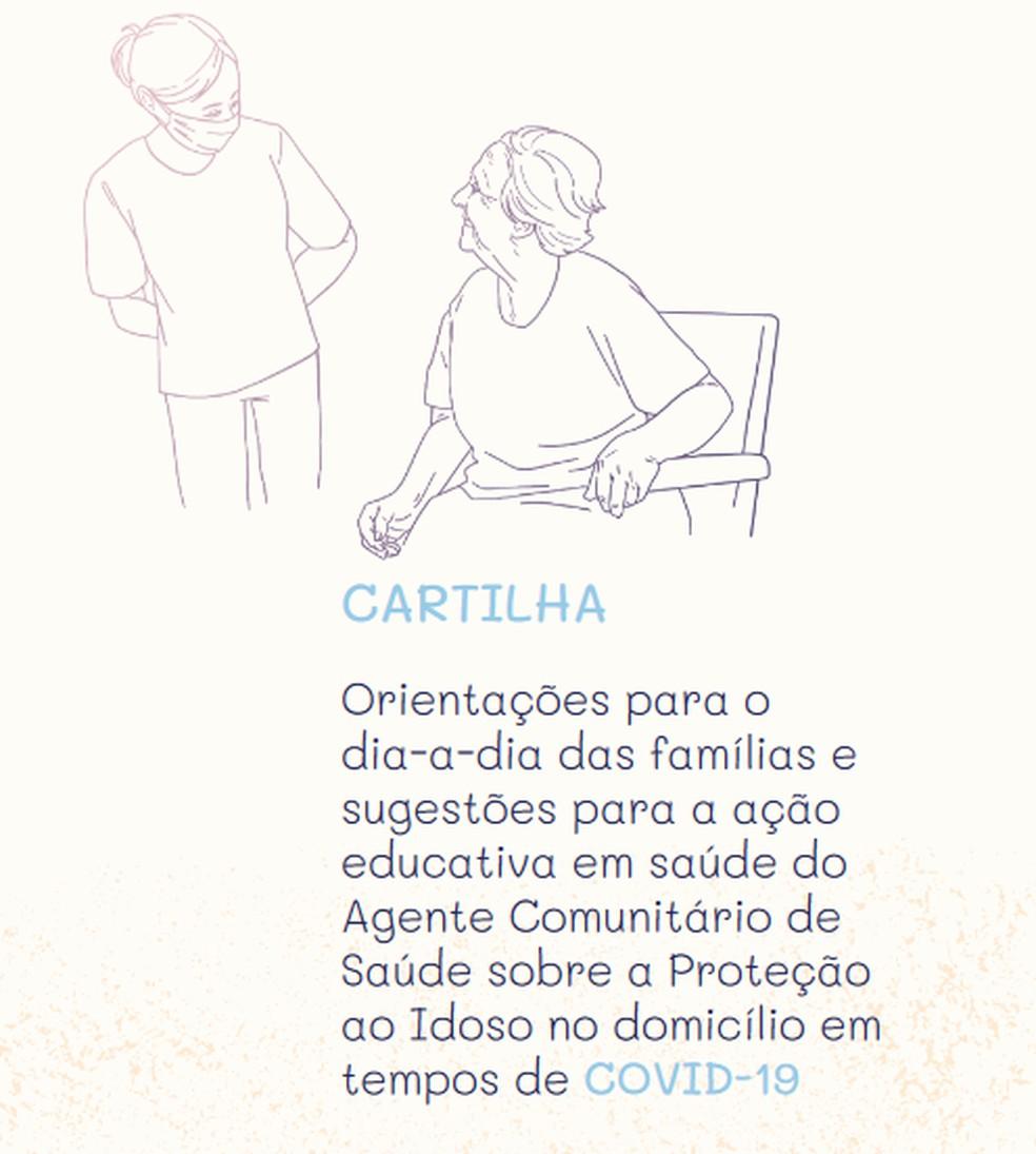 Cartilha lançada pela UFRN trata de cuidados das famílias com os idosos durante a pademia de coronavírus — Foto: Lais/UFRN