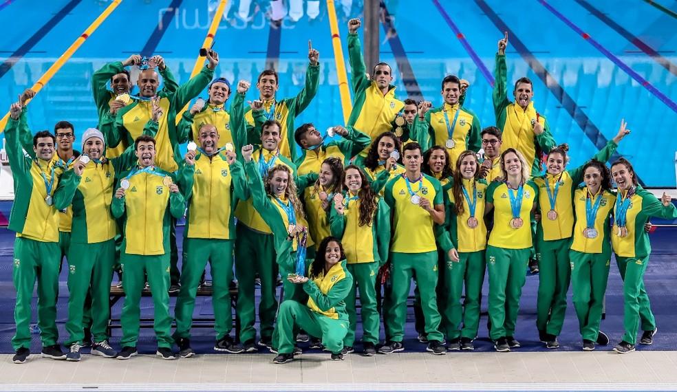 Natação brasileira obteve o melhor resultado da história em Jogos Pan-Americanos — Foto: Wander Roberto/COB