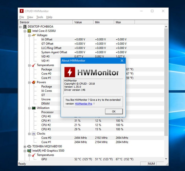 CPUID HWMonitor | Download | TechTudo