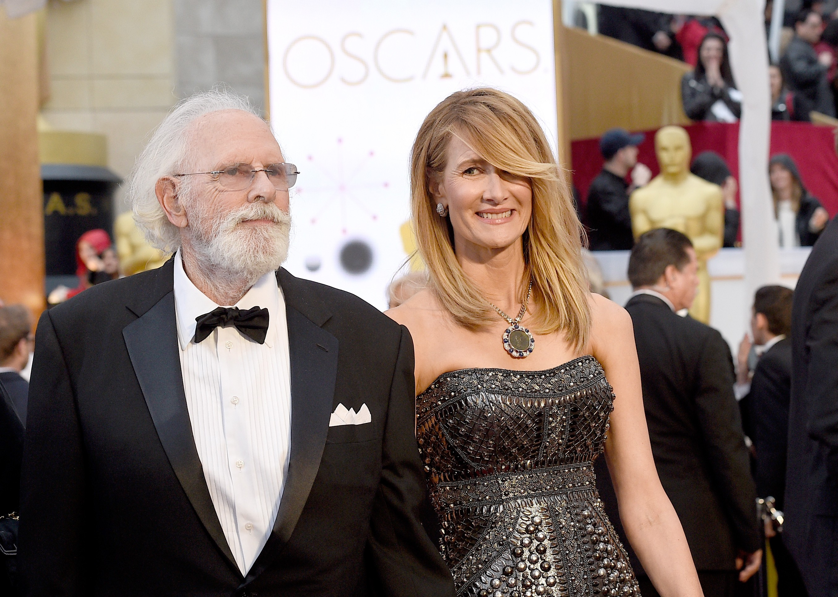 O ator Bruce Dern com a filha, a atriz Laura Dern (Foto: Getty Images)