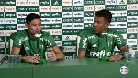 Ex-rivais, Marcos Rocha e Diogo Barbosa afinam parceria no Palmeiras