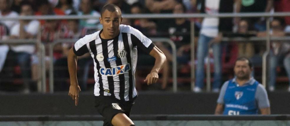 Guilherme Nunes fez seis partidas com a camisa do Peixe — Foto: Ivan Storti/Santos FC