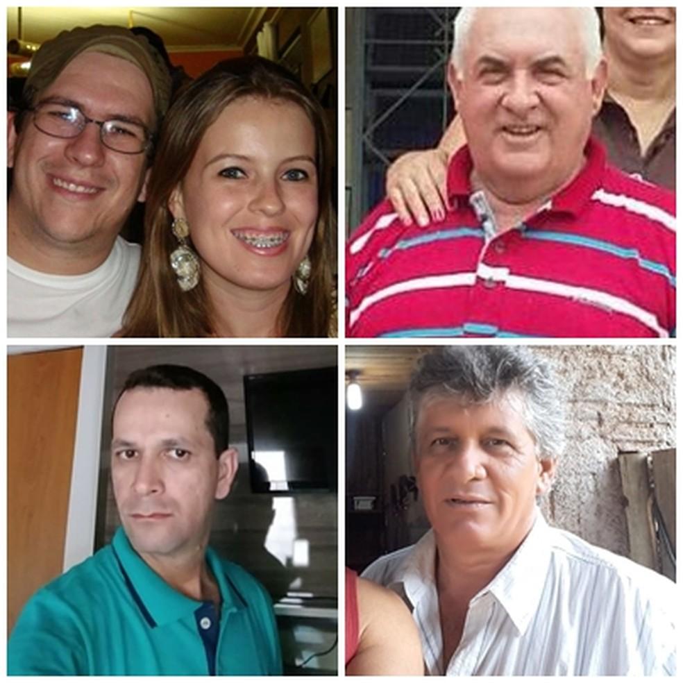 Vítimas que morreram em acidente entre carros em rodovia que liga Castilho a Andradina (SP) — Foto: Arquivo Pessoal