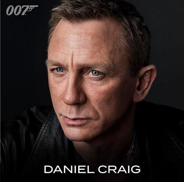A foto compartilhada no Instagram da franquia 007 anunciando a presença de Daniel Craig como o espião James Bond no 25º filme da série (Foto: Instagram)