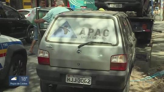 Carro da Apac de Lagoa da Prata usado em fuga de detentos é encontrado em BH