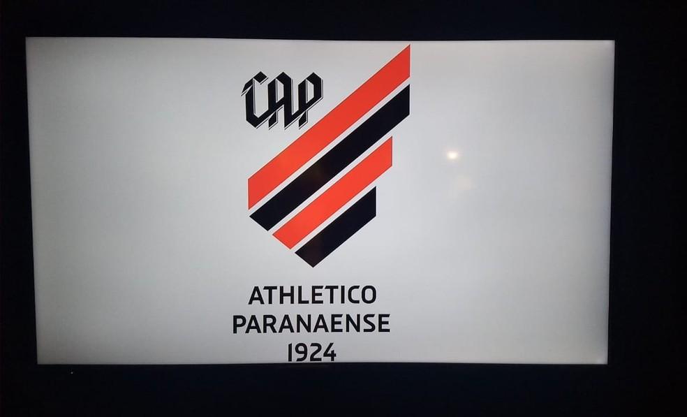 Atlético-PR resgatou o H para o nome do clube  — Foto: Monique Silva