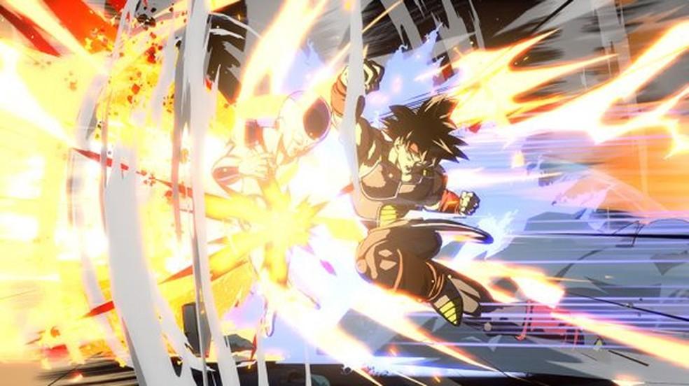 Bardock, o pai de Goku, luta em sua forma base mas vira super sayajin em seu golpe especial Revenger Assault no DLC de Dragon Ball FighterZ (Foto: Reprodução/Gematsu)