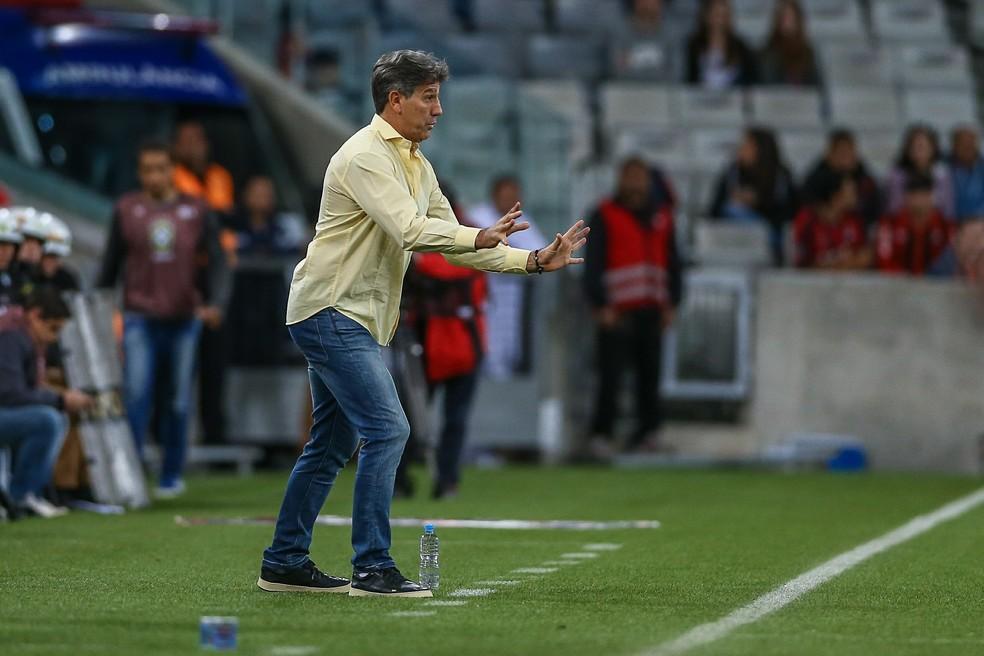 Renato Gaúcho minimizou má atuação em Curitiba (Foto: Lucas Uebel/Grêmio FBPA)