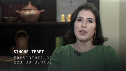 Central GloboNews entrevista ao vivo a senadora Simone Tebet