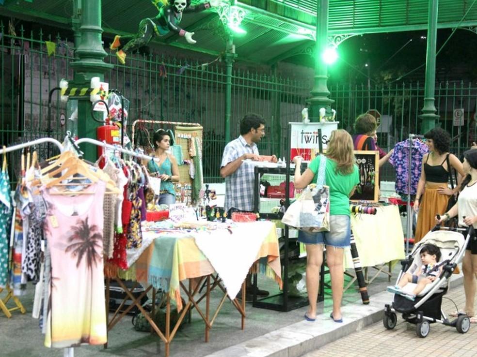 Mercado Criativo traz feira para o Mercado dos Pinhões. (Foto: Thiago Gaspar/G1/Divulgação)