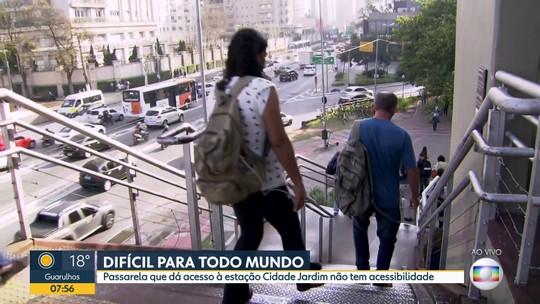 Problemas na passarela de acesso à estação Cidade Jardim