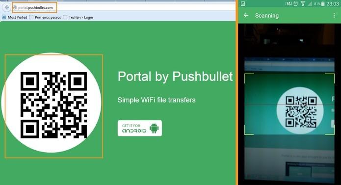 App Portal permite transmitir dados e mídias entre o PC e o Android (Foto: Reprodução/Barbara Mannara)