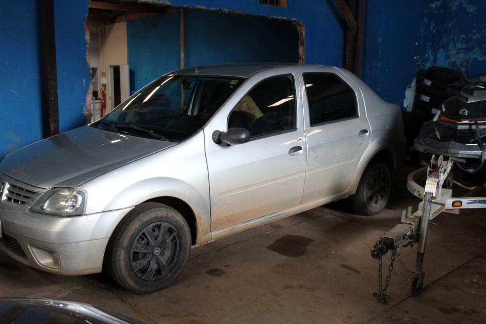 Veículo usado para transportar a droga  (Foto: Júnior Freitas / G1 RO )