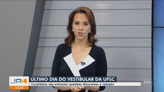 Último dia de provas do Vestibular da UFSC tem questões discursivas e redação