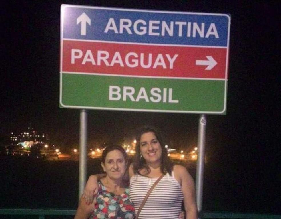 Camila e a mãe, Elzi, estiveram em Foz do Iguaçu no início do ano:
