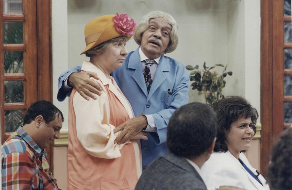 Zilda Cardoso e Chico Anysio — Foto: Acervo TV Globo