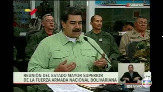 'Vale mais prevenir do que lamentar', diz Maduro ao anunciar bloqueio