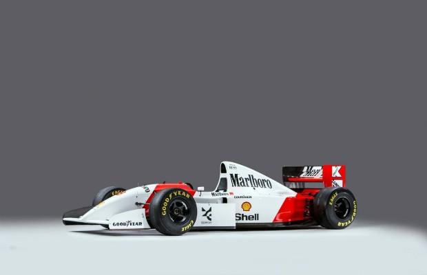 McLaren MP4/8A pilotada por Senna no GP de Mônaco em 1993 (Foto: Bonhams)