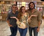 Felipe Simas, Juliana Paiva e Rodrigo Simas em 'Salve-se quem puder' | Danilo Togo/Globo