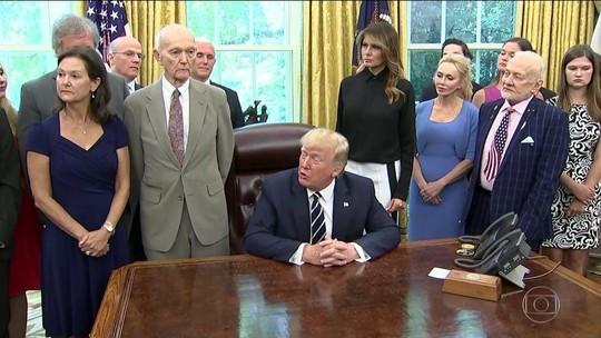 Trump recebe na Casa Branca astronautas que foram à Lua