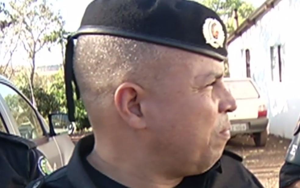 Major da Polícia Militar Cristiano Silva de Macena, de 45 anos Rio Verde Goiás — Foto: Reprodução/TV Anhanguera