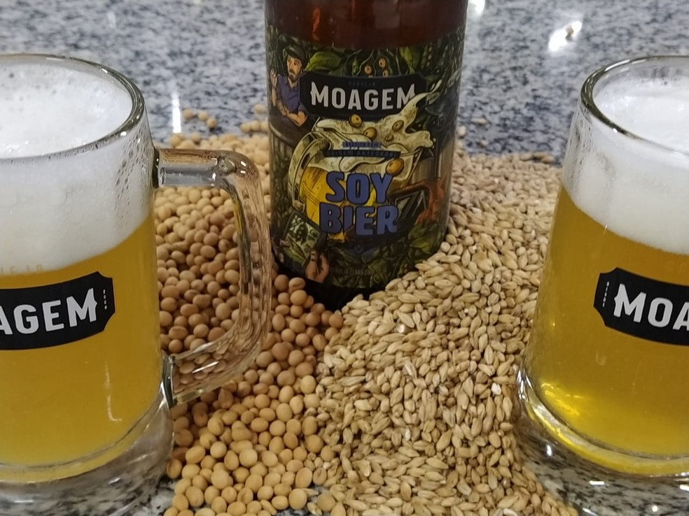 """Cerveja de soja foi criada para """"valorizar a regionalidade"""" em Mato Grosso do Sul — Foto: Felipe Zuffo/Arquivo Pessoal"""