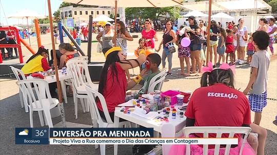 'Viva a Rua' leva diversão e serviços para população de Contagem, na Grande BH