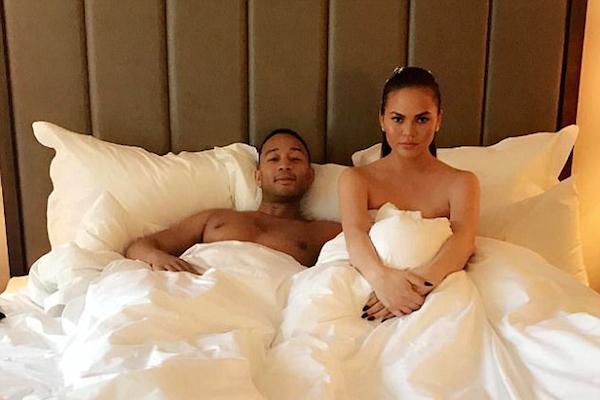 O cantor John Legend e a esposa, a modelo Chrissy Teigen (Foto: Instagram)