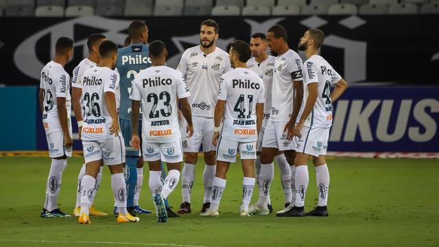 Time do Santos contra o Atlético-MG