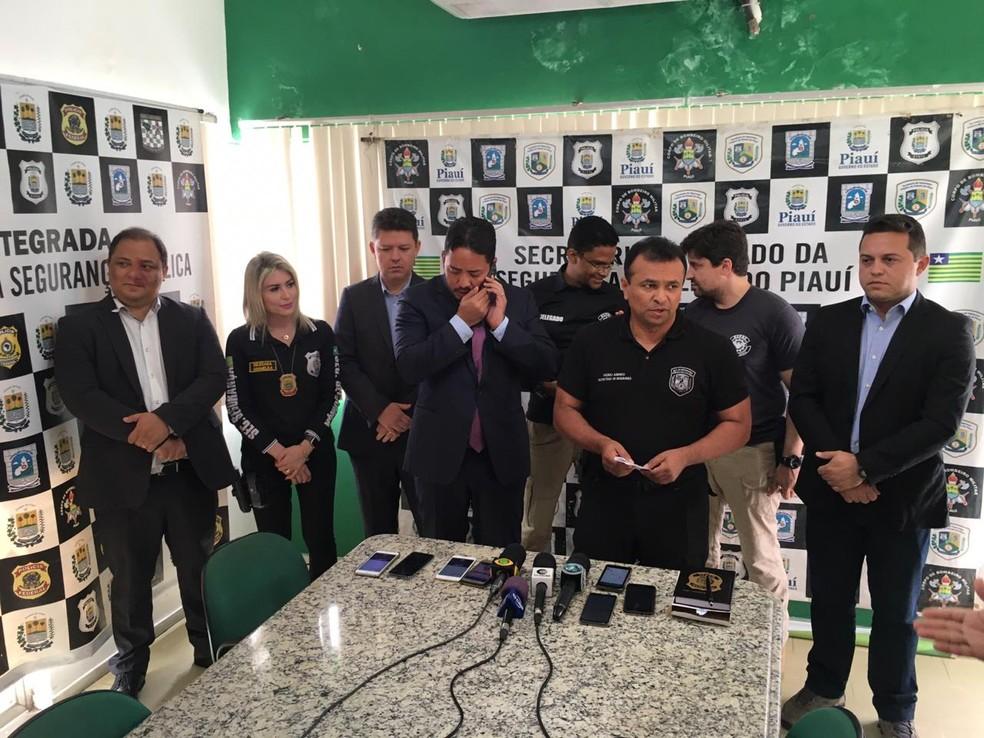 SSP e Sejus dão detalhes sobre presos na Operação Codinome.  — Foto: Murilo Lucena/TV Clube