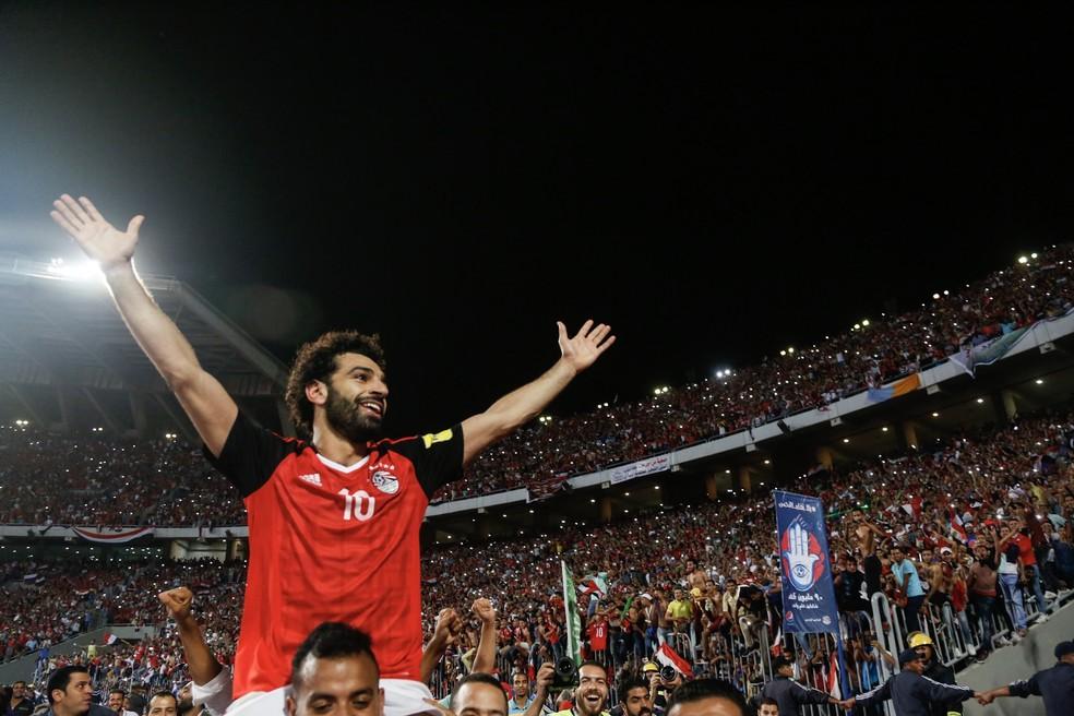 Egito, de Salah, ficaria com o Flamengo, mas foi repassado ao Vasco (Foto: AFP)