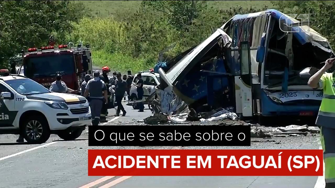 O que se sabe sobre o acidente entre ônibus e caminhões em Taguaí (SP)