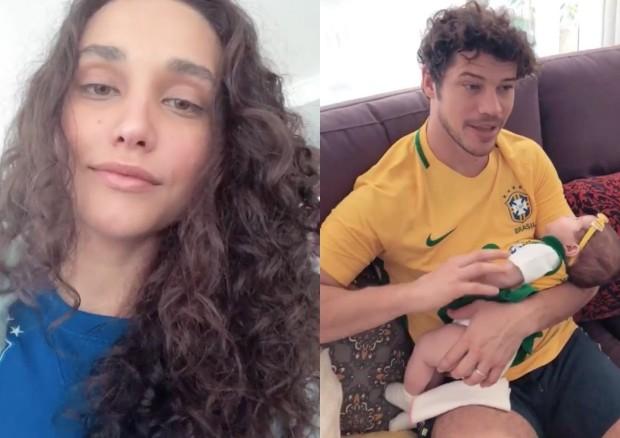 Débora Nascimento se derrete por José Loreto e Bella uniformizados (Foto: Reprodução/Instagram)