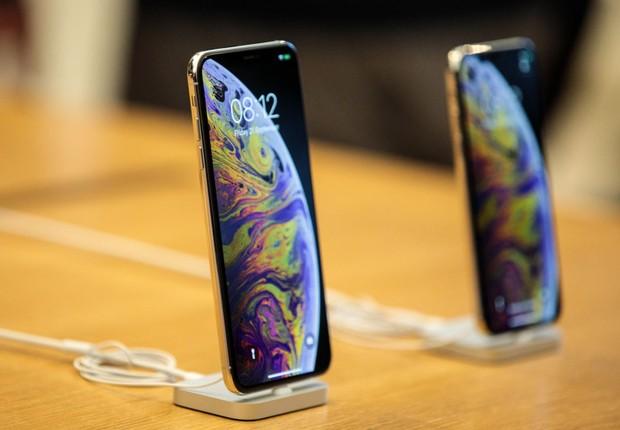 iPhone XS e iPhone XS Max em exibição após anúncio da Apple (Foto: Jack Taylor/Getty Images)