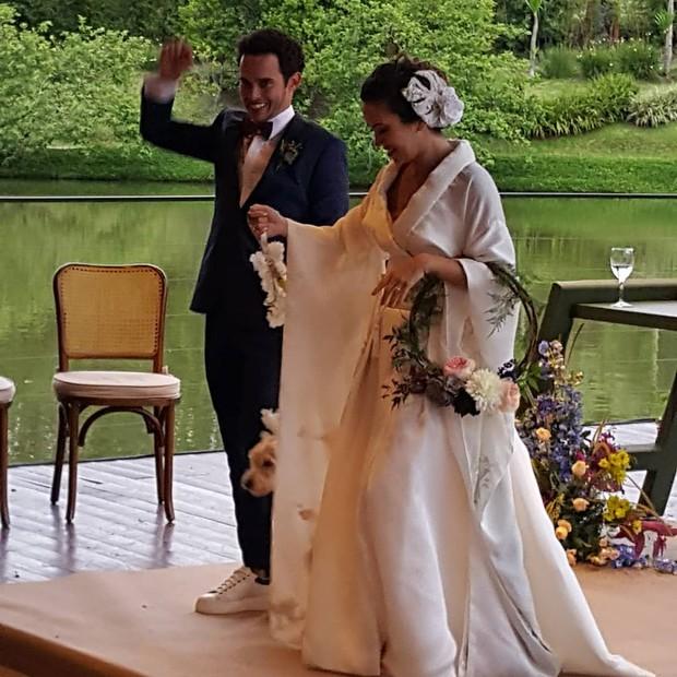 Marina Takeda e Rafael Cameron se casam em São Paulo (Foto: Reprodução/Instagram)