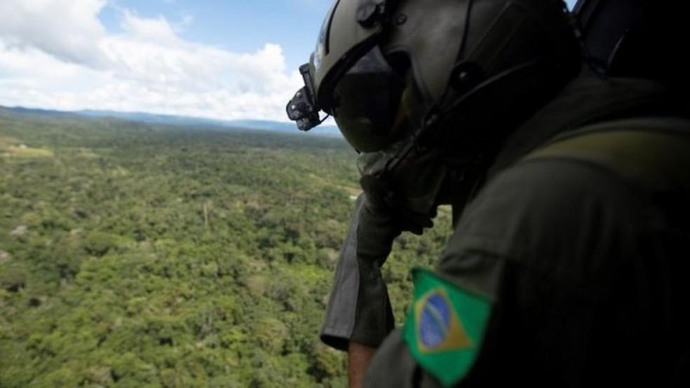 Governo prorroga presença das Forças Armadas na Amazônia até abril de 2021 — Foto: EPA