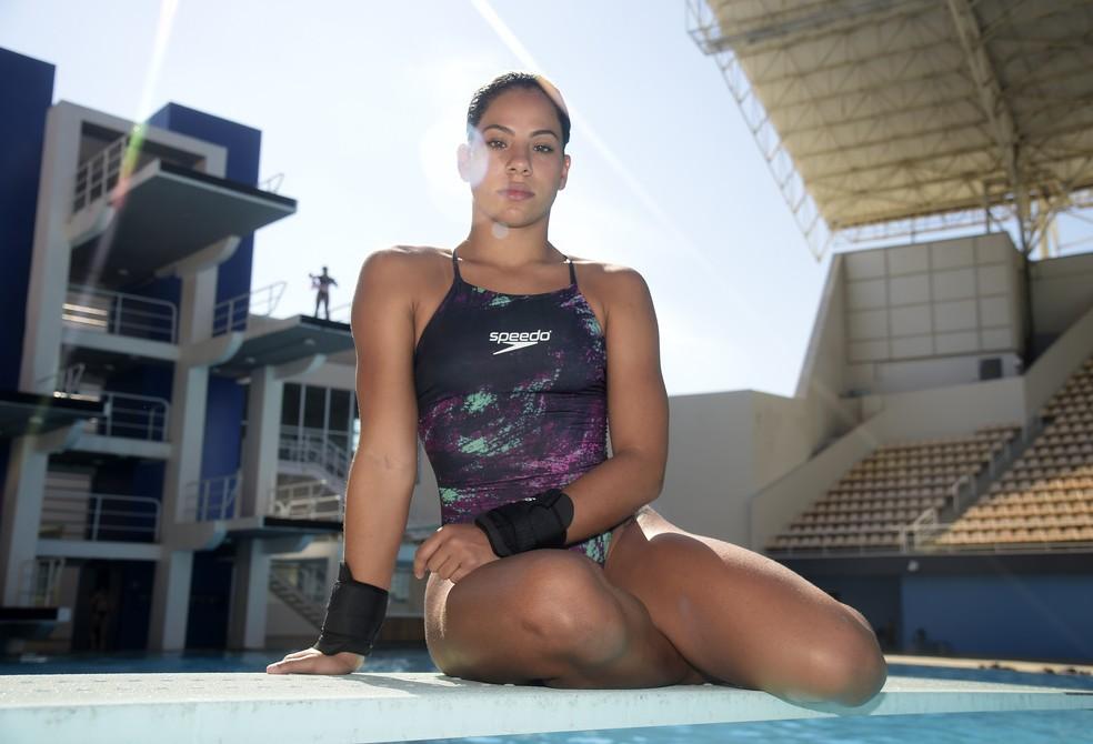 Ingrid de Oliveira no Parque Aquático Maria Lenk — Foto: André Durão