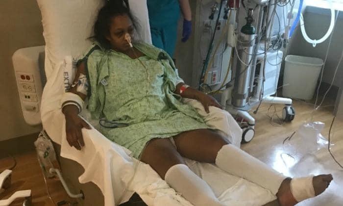 Mãe sofre sérias complicações depois que DIU foi parar em seu estômago (Foto: gofoundme)