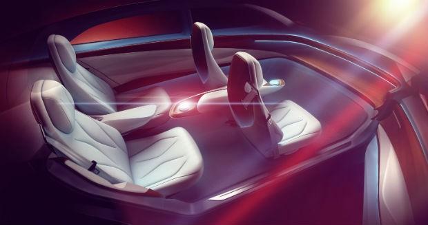 Volkswagen ID VIzzion interior (Foto: Divulgação)