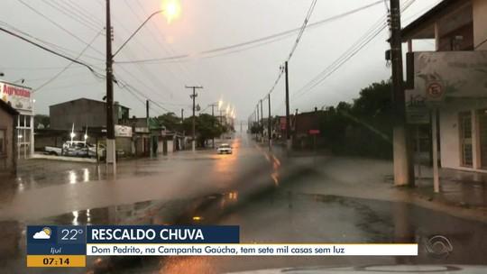 Chuva afeta mais de 5,5 mil pessoas em nove cidades do RS