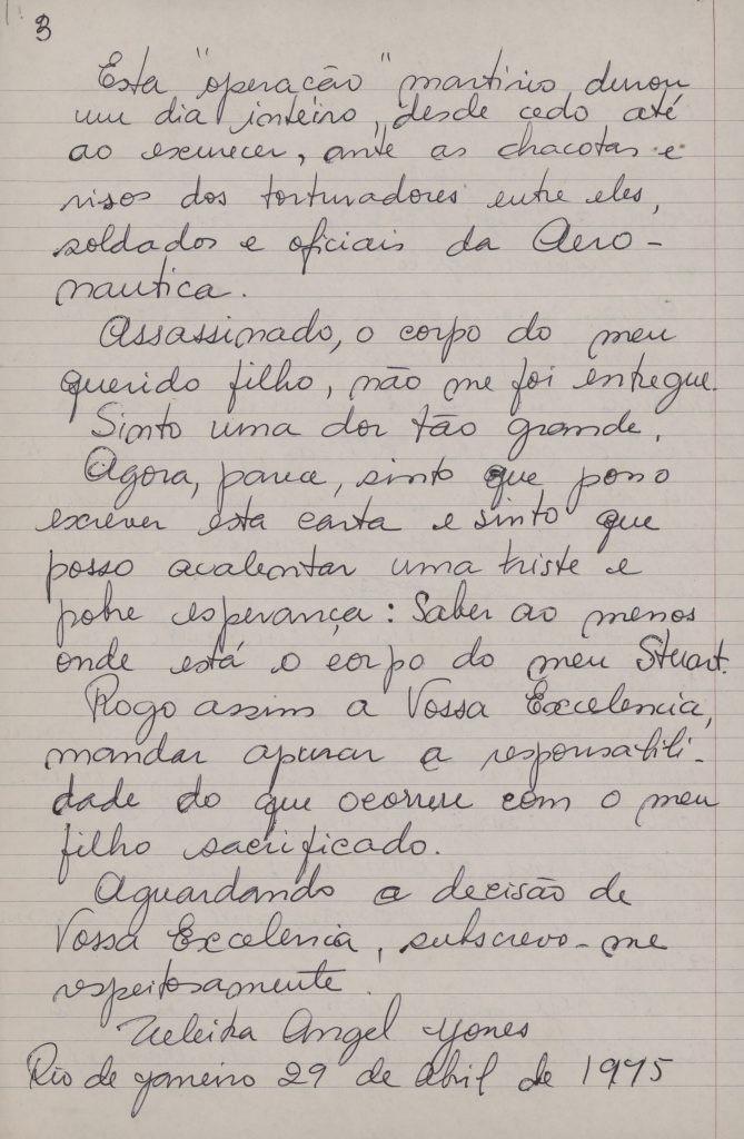 A carta de Zuzu Angel a Ernesto Geisel (parte 3/3)