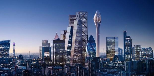 Prédio futurista em Londres tem formato de tulipa  (Foto: Divulgação)