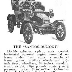 Automóvel marca Santos-Dumont