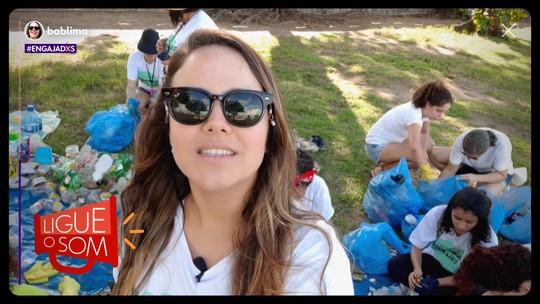 Bárbara Lima limpa ruas e praias de Pernambuco