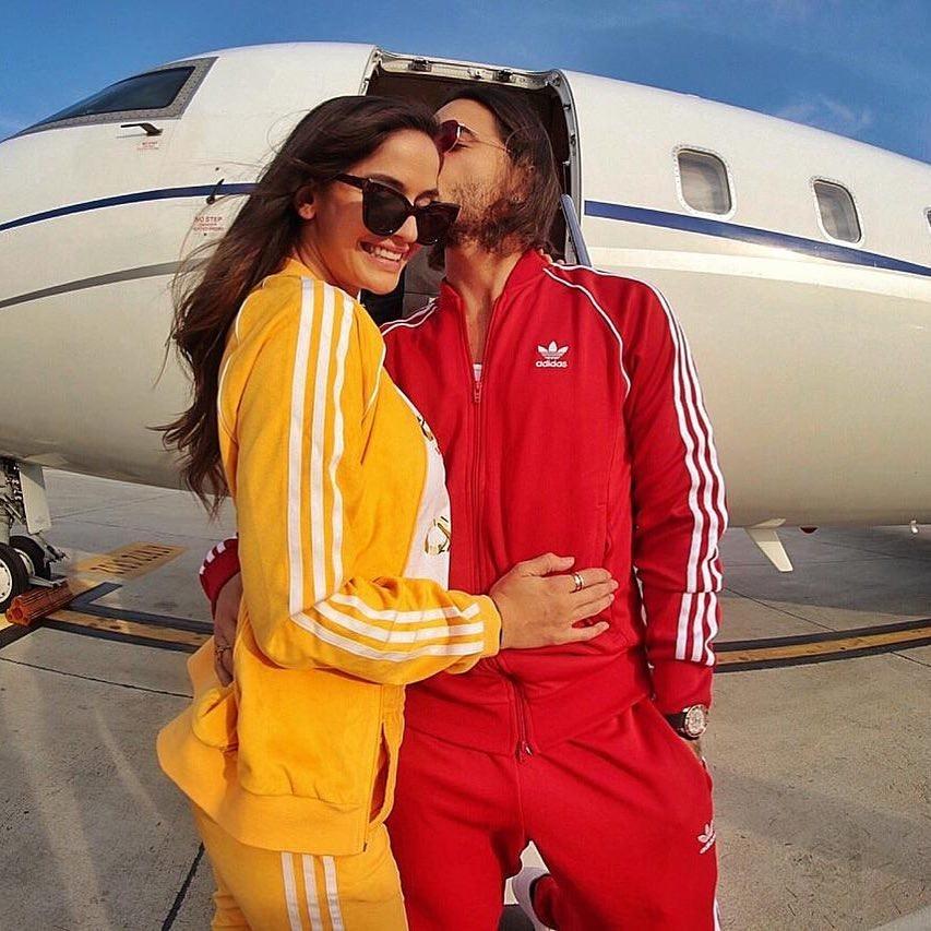 A modelo Natalia Barulích e o cantor Maluma (Foto: Instagram)