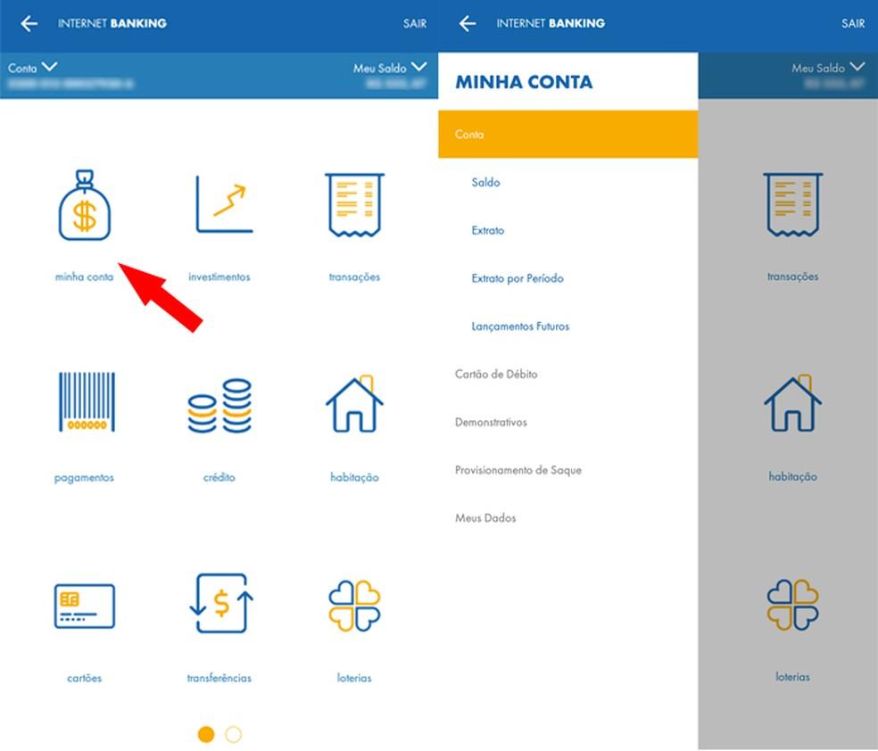 menu-minha-conta Como usar o aplicativo da Caixa